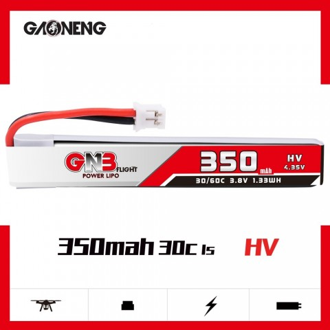 GNB 1S 350mAh HV 30C PH 2.0 - Cabled