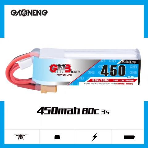 GNB 3S 450mAh 80C Long Type XT30