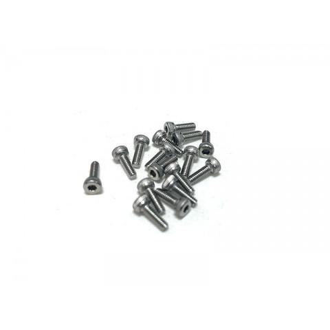 Stainless Steel M2x6 Screws (socket cap) 16pcs