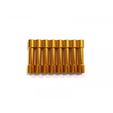 Aluminum Stepped Spacers - 30mm Gold