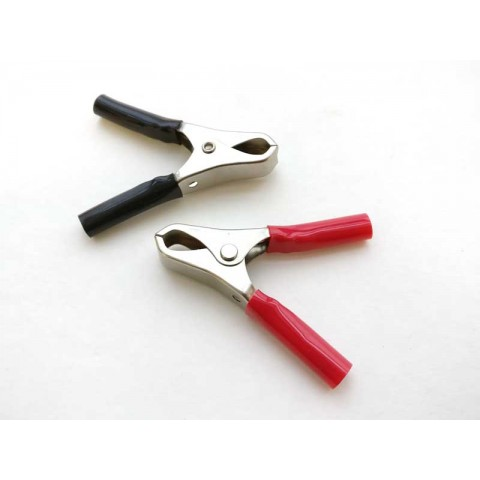 Alligator clips for charge cable