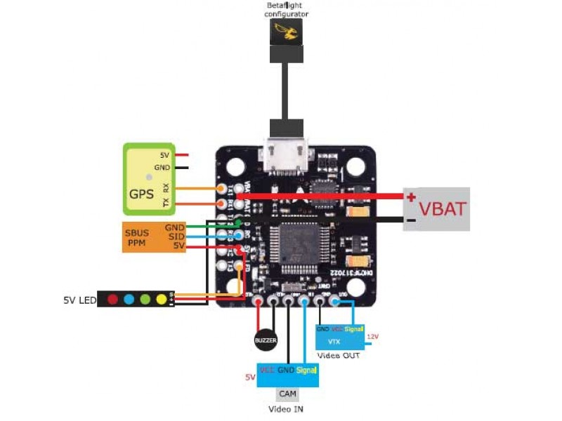 Mini F3 Flight Controller W  Bec And Osd