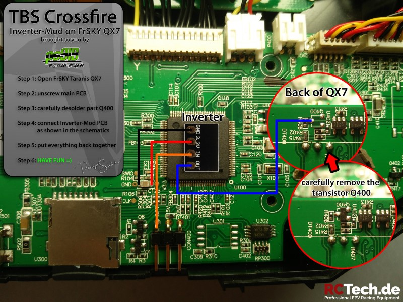 TBS Inverter Mod for Crossfire