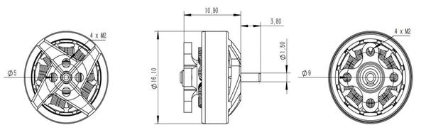 4pcs BetaFPV 1204 5000kv Brushless Motors